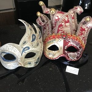 Accessories - Authentic Masquerade Ball Masks - 2 masks - NWT